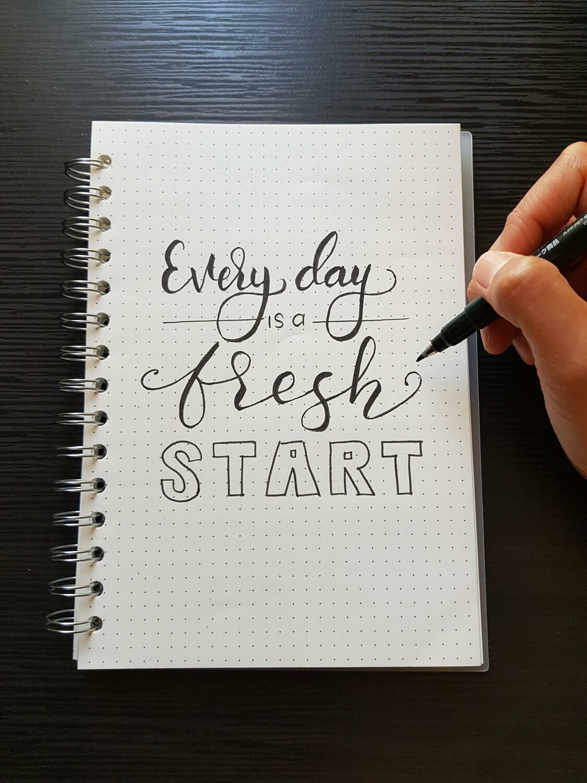 Digital Wallpaper- everyday is a fresh start