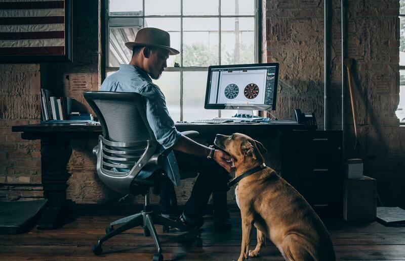 Digital Wallpaper- Man's best friend