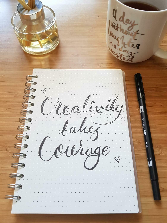 Digital Wallpaper- creativity takes courage