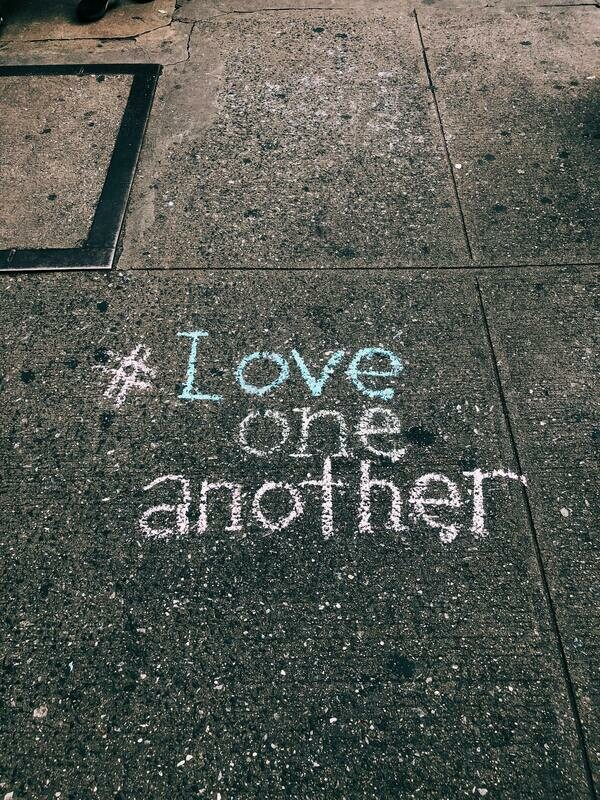 Digital Wallpaper- love one another