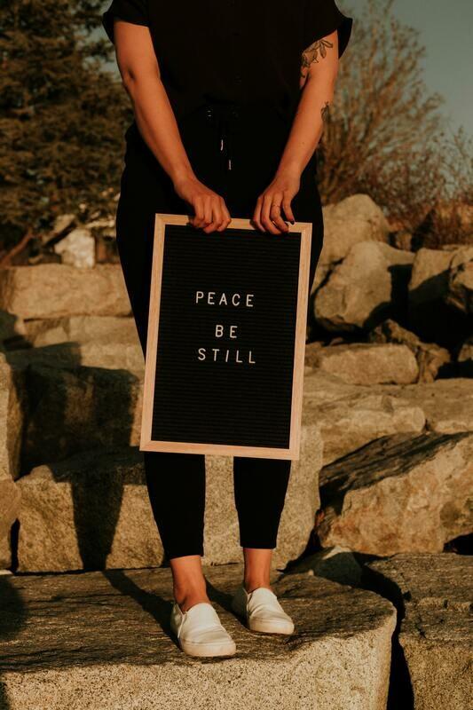 Digital Wallpaper- peace be still