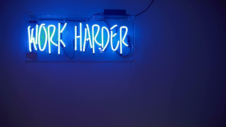 Digital Wallpaper- work harder