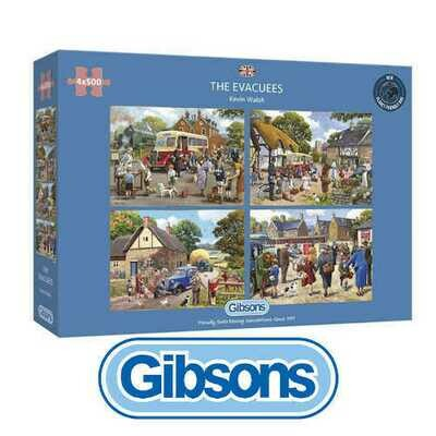 The Evacuees Gibsons 4x500 piece Jigsaw Puzzles