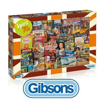 Gibsons Spirit of the 70's 1000 piece Jigsaw Puzzle