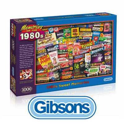 1980's Sweet Memories 1000 piece Gibsons jigsaw puzzle