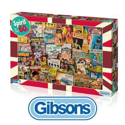 Gibsons Spirit of the 60's 1000 piece Jigsaw Puzzle