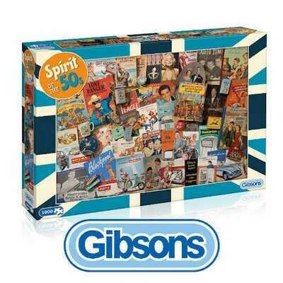 Gibsons Spirit of the 50's 1000 piece Jigsaw Puzzle
