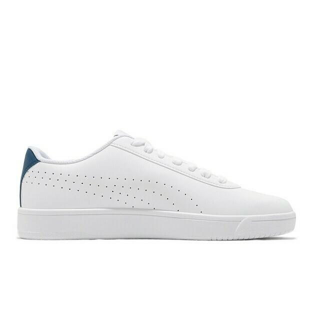 Court Pure Puma White-Puma White-Digi-bleu