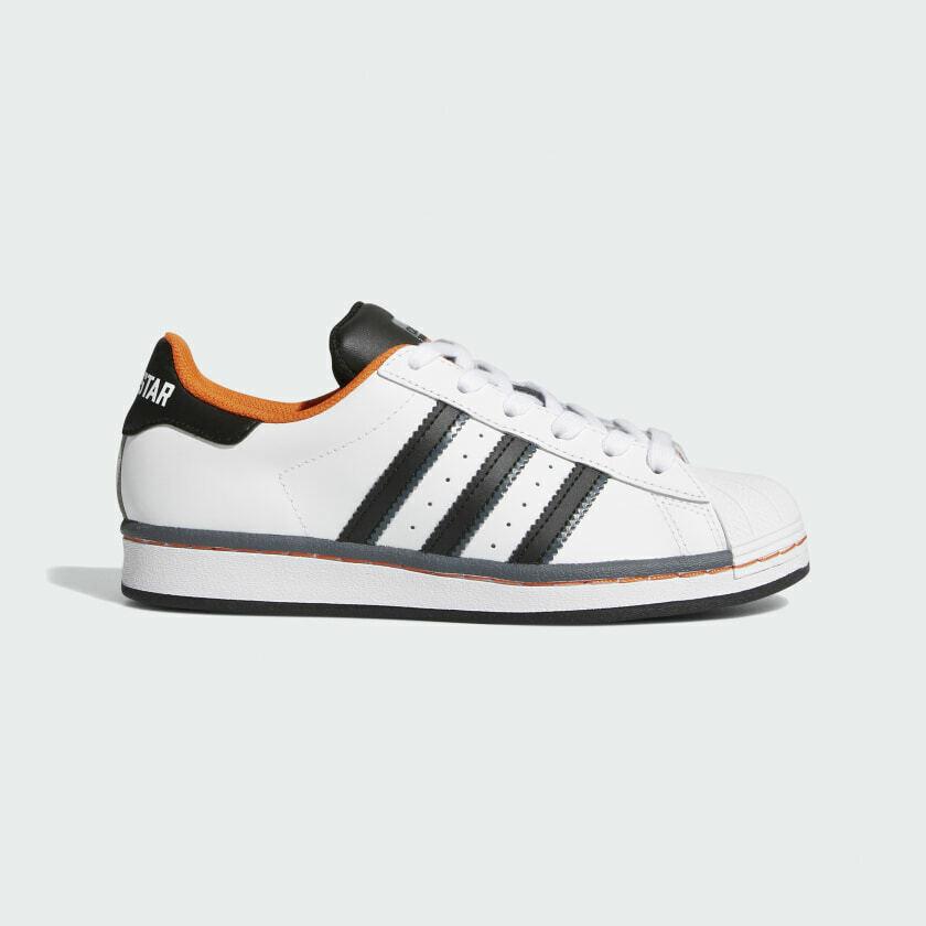 Adidas Superstar Cloud White / Core Black / Orange