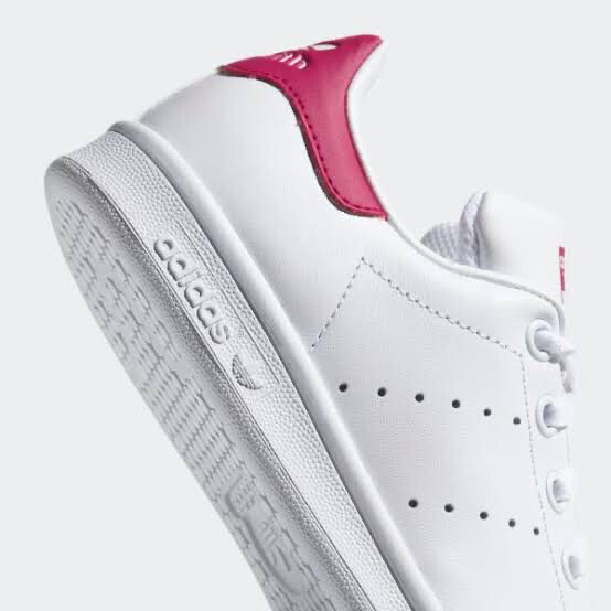 STAN SMITH SHOES J white with pink