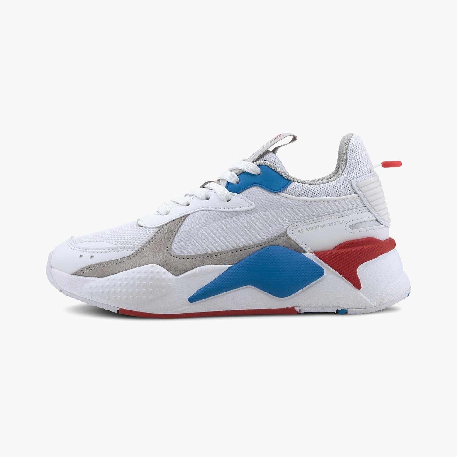 RS-X Monday Jr Puma White-High Risk Red