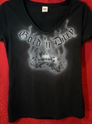 Gold 'n Dirty - Ladys Shirt Größe S