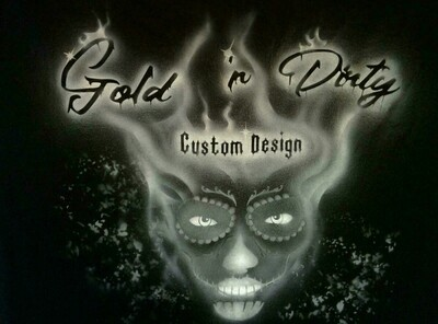Gold 'n Dirty - Custom Design Uni Shirt Größe L
