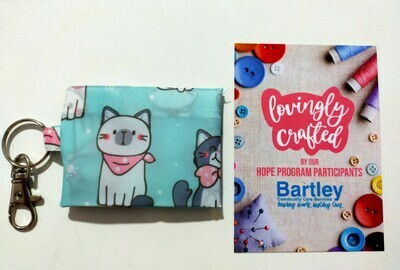 Mask Pouch - Cool Cat (Tiffany Blue)