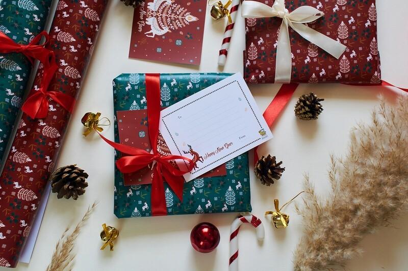 CHRISTMAS WRAPPING - GREEN