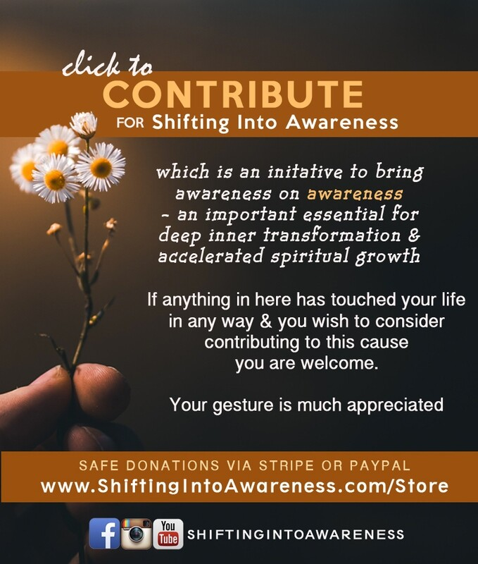 DONATE for Shifting Into Awareness
