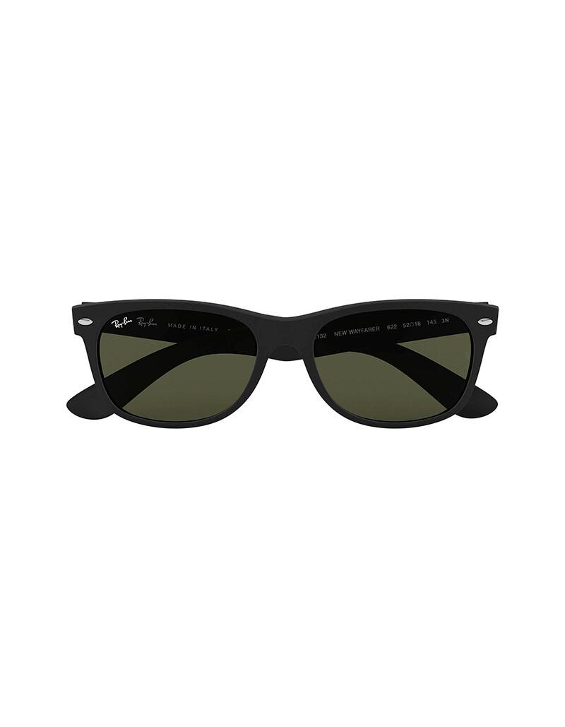 Ray-Ban New Wayfarer occhiali da sole RB2132 / 622 Colore nero materiale nylon