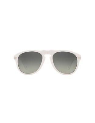 Persol occhiali da sole da uomo PO0649 / 111971 Colore bianco - grigio sfumate