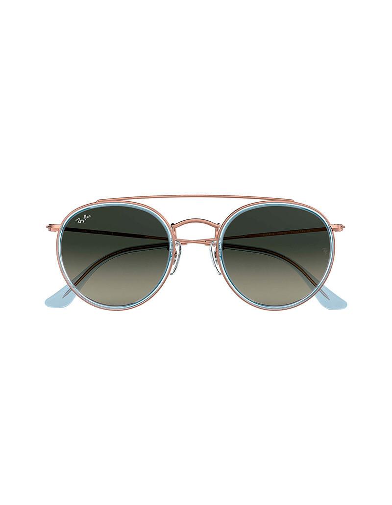 Ray-Ban Round Double Bridge occhiali da sole RB3647N / 906771 Colore grigio