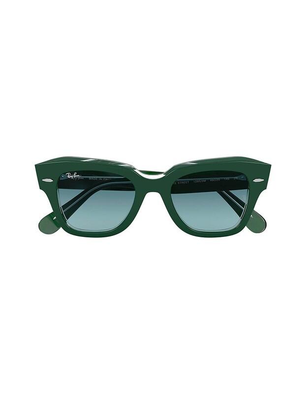 Ray-Ban State Street occhiali da sole RB2186 / 12953M Colore verde-blu sfumata