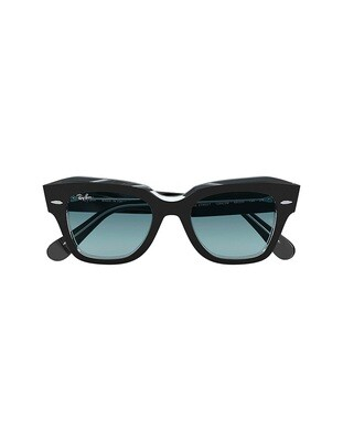 Ray-Ban State Street occhiali da sole RB2186 / 12943M Colore nero-blu sfumata