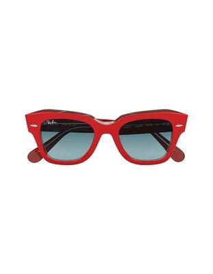 Ray-Ban State Street occhiali da sole RB2186 / 12963M Colore rosso-blu sfumata