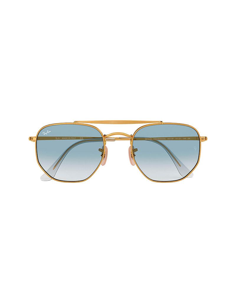 Ray-Ban Marshal occhiali da sole RB3648 / 001/3F Colore oro-azzurro sfumato