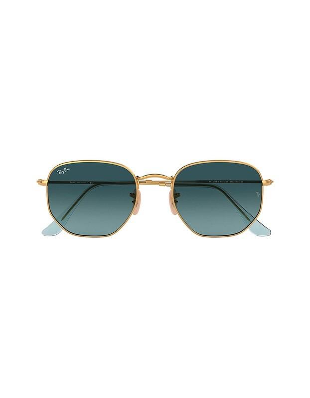 Ray-Ban Hexagonal Flat Lenses occhiali da sole RB3548N / 91233M Colore oro - blu sfumato