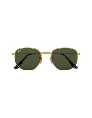 Ray-Ban Hexagonal Flat Lenses occhiali da sole RB3548N / 001 Colore oro - verde