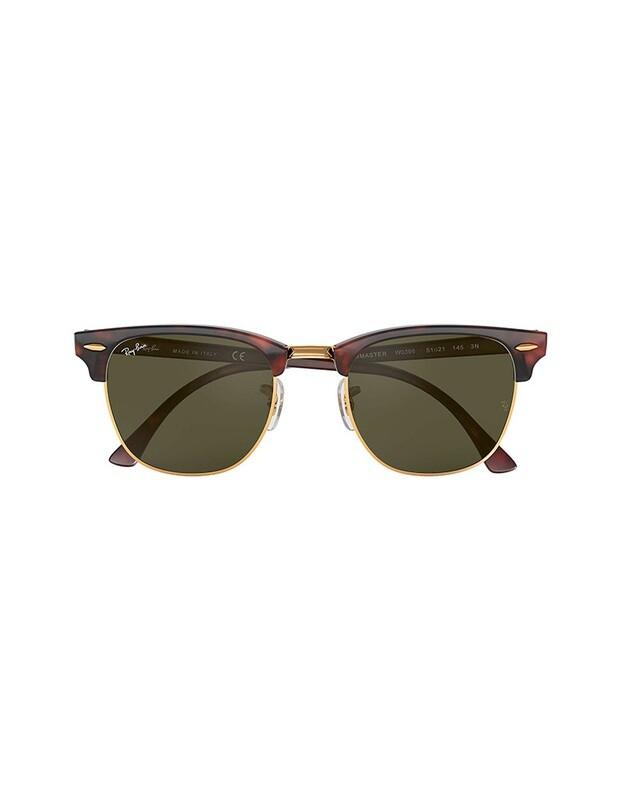Ray-Ban Clubmaster Classic occhiali da sole RB3016 / W0366 Colore marrone - verde
