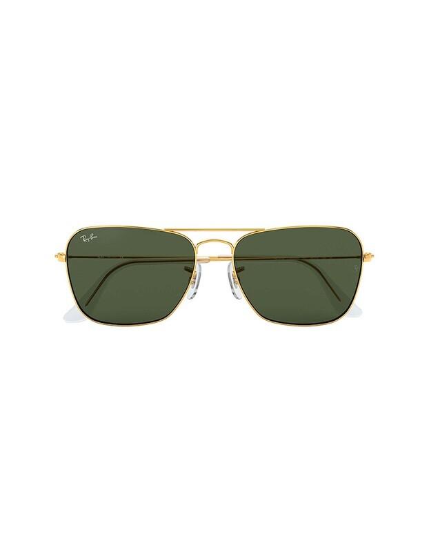 Ray-Ban Caravan occhiali da sole RB3136 / 001 Colore oro - verde