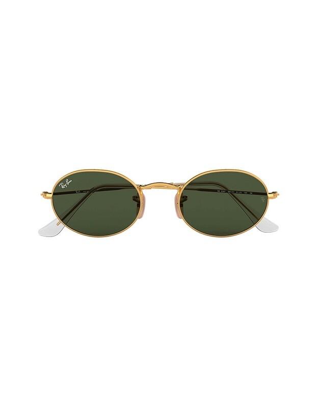 Ray-Ban Oval occhiali da sole RB3547 / 001/31 Colore oro - verde