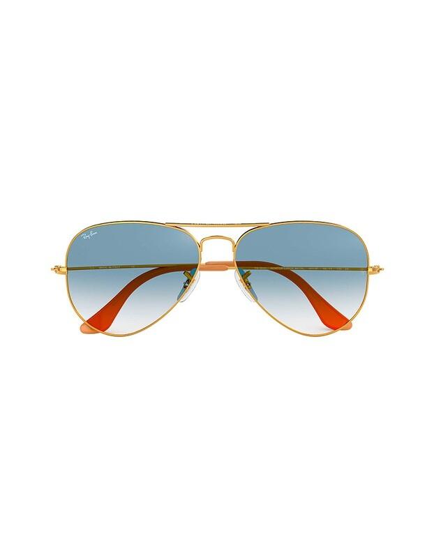 Ray-Ban Aviator Gradient occhiali da sole RB3025 / 001/3F Colore oro - azzurro sfumato