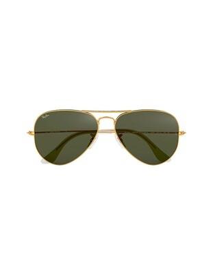 Ray-Ban Aviator Classic occhiali da sole RB3025 / L0205 Colore oro - verde G-15