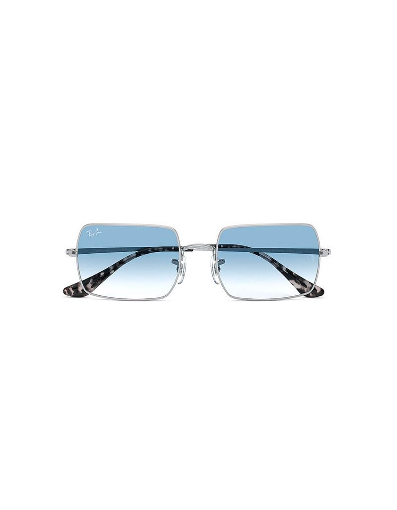 Ray-Ban Rectangle 1969 occhiali da sole RB1969 / 91493F Colore grigio - azzurro sfumata