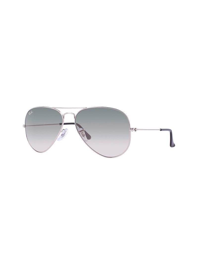 Ray-Ban Aviator Gradient occhiali da sole RB3025 / 003/32 Colore argento - grigio sfumato