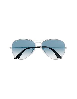 Ray-Ban Aviator Gradient occhiali da sole RB3025 / 003/3F Colore argento - azzurro sfumato