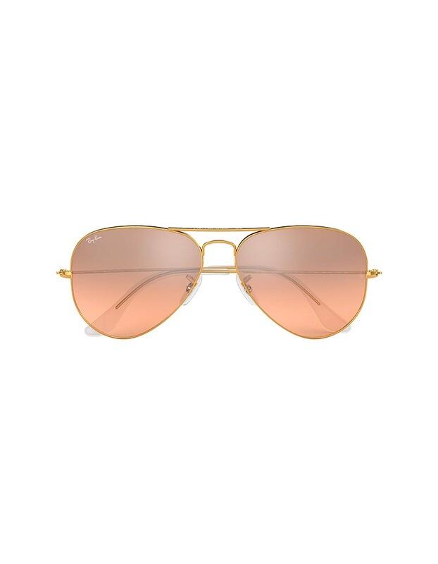 Ray-Ban Aviator Gradient occhiali da sole RB3025 / 001/3E Colore oro - argento-rosa specchiata