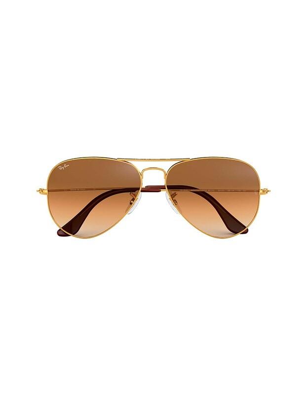 Ray-Ban Aviator Gradient occhiali da sole RB3025 / 001/51 Colore oro - marrone sfumato
