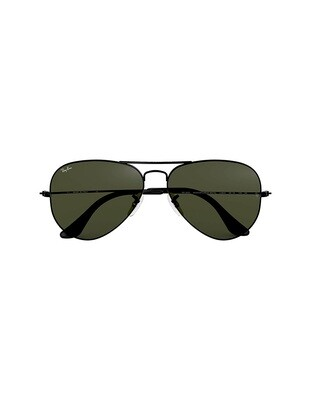 Ray-Ban Aviator Classic occhiali da sole RB3025 / L2823 Colore nero - verde G-15