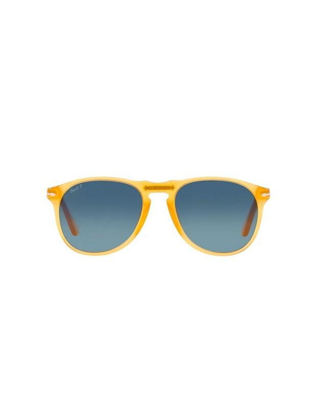Persol occhiali da sole da uomo PO9649S / 204/S3 Colore Miele giallo - blu sfumate