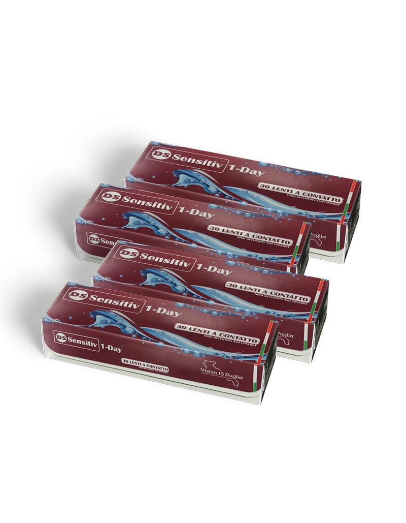 4X | DS Sensitiv 1-Day - lenti a contatto giornaliere (4 confezioni da 30 lenti)