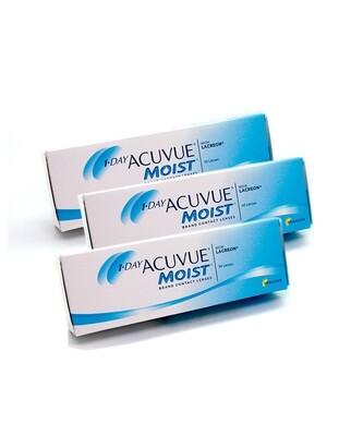 3X | 1-Day Acuvue Moist - lenti a contatto giornaliere (3 confezioni da 30 lenti)