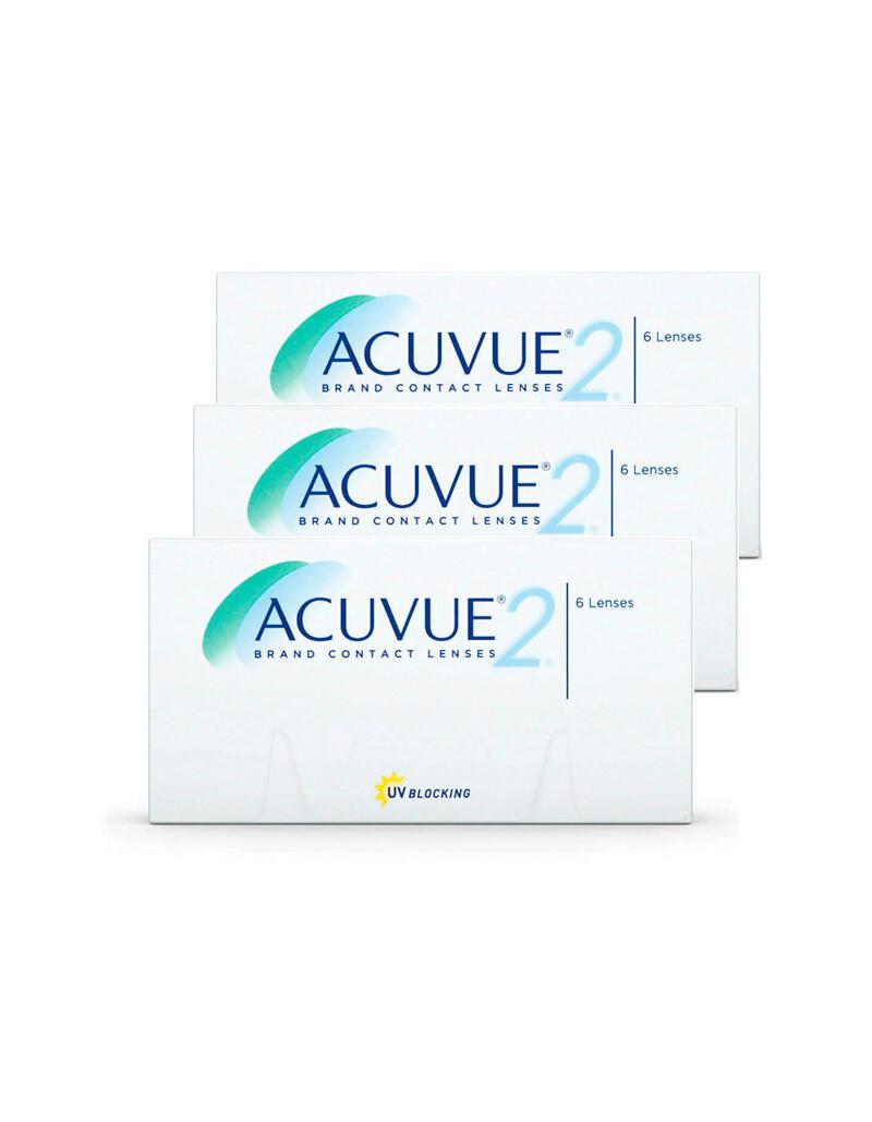 3X | Acuvue 2 - lenti a contatto quindicinale (3 confezioni da 6 lenti)