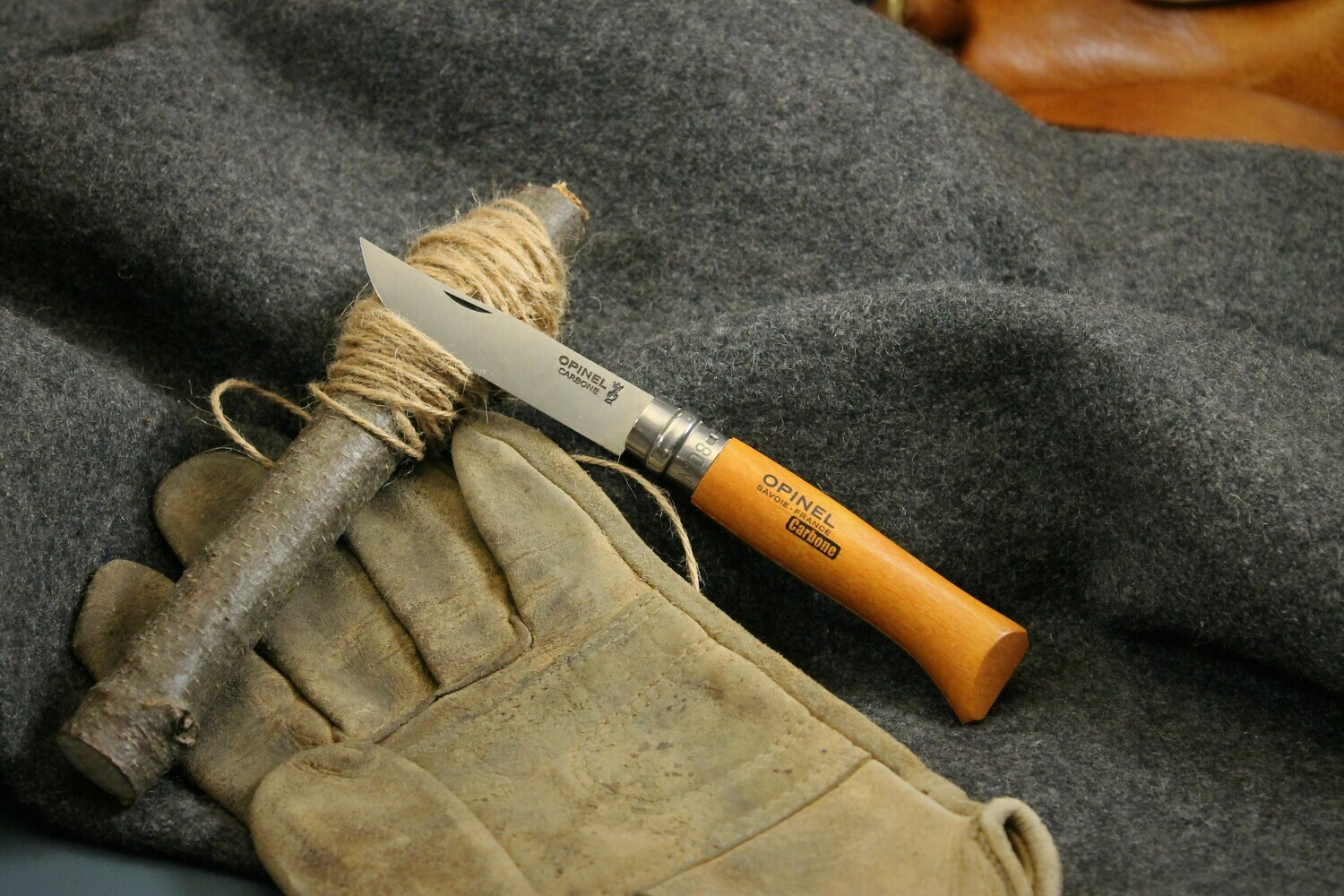 Opinel No.8 Carbone VRI Series Stainless Blade