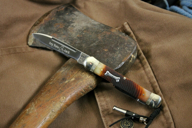Dog Bone Jack Pocketknife with Whistle