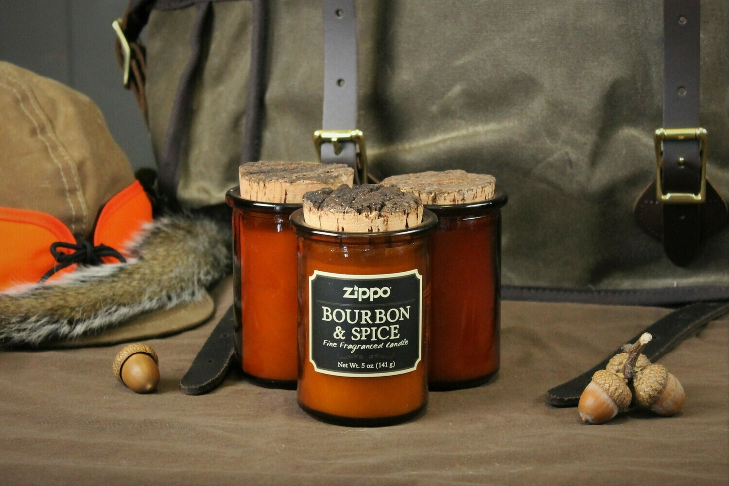 Bourbon and Spice Scented Candle