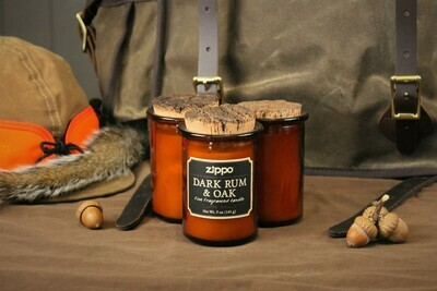 Dark Rum and Oak Scented Candle