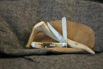 Case Cutlery Mini Trapper Amber Bone