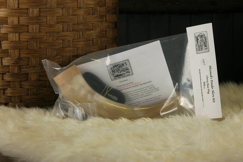 Nessmuk's Powder Horn Kit - Cherry Base Plug